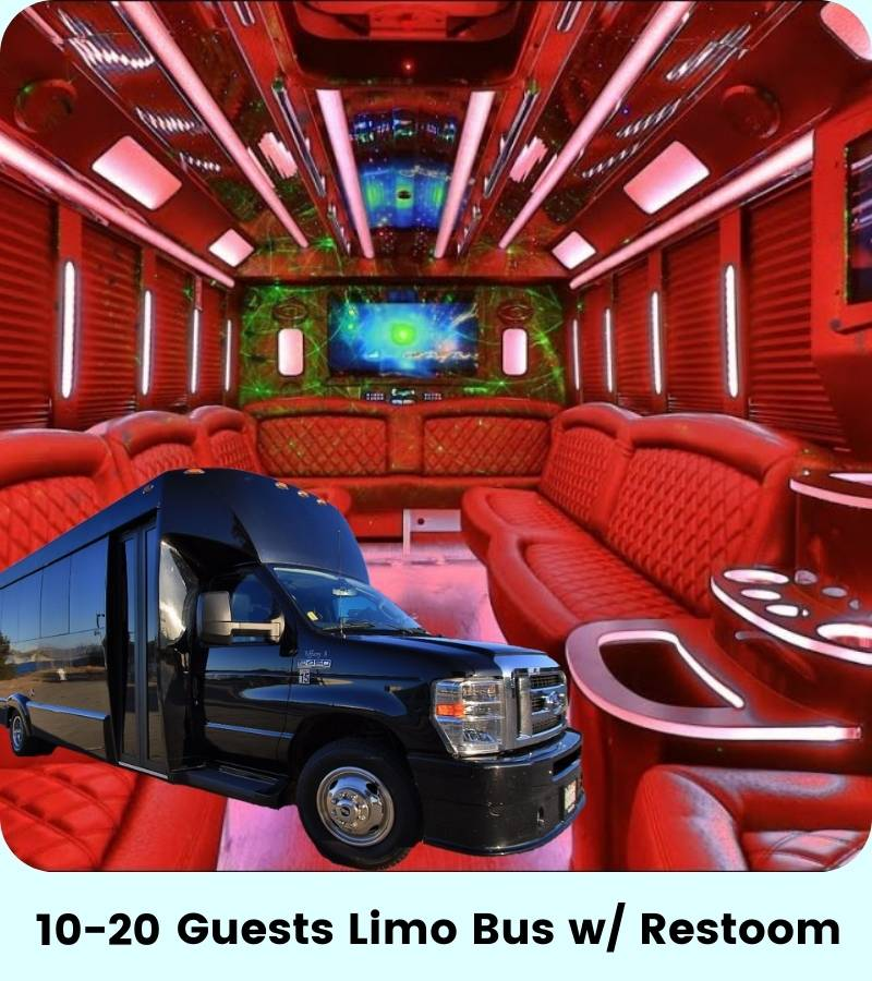 10-20 Person Cali Party Bus SF with Restroom