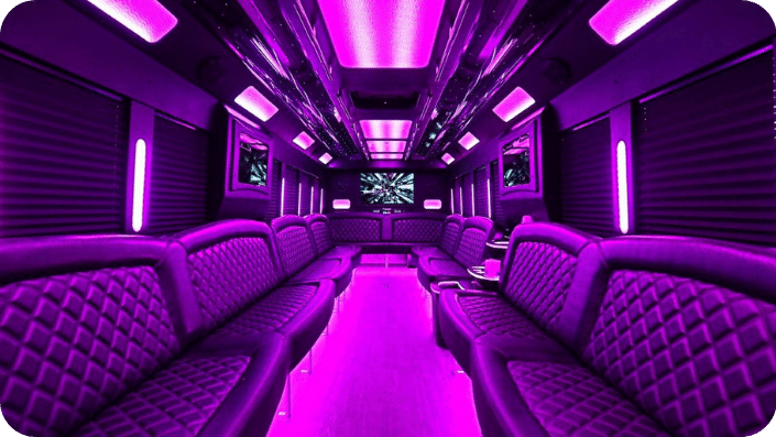 Sf party bus 40 guests interior